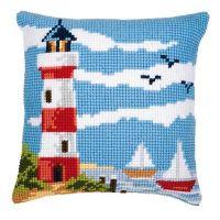 Cross Stitch Kit: Cushion: Lighthouse Scene by Vervaco