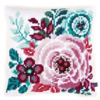 Cross Stitch Cushion Kit Flower Paradise 1 by Vervaco