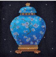 Diamond Painting Kit Blue Vase