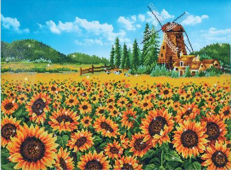 Diamond Painting Kit Sunflower Windmill
