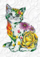 Diamond Painting Kit  Flower Puss