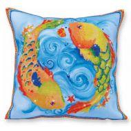 Diamond Painting Cushion Kit Dancing Fish