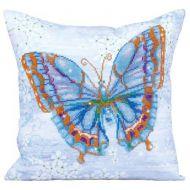 Diamond Painting Cushion Kit Papillon Bleu