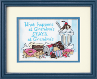 What Happens at Grandmas Stamped Cross Stitch Kit