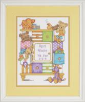 Baby Drawers Birth Record Stamped Cross Stitch Kit