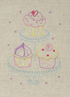 Anchor Starter Embroidery Kit Cupcake