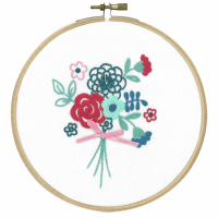 Vervaco Embroidery Kit with Ring Modern Flowers