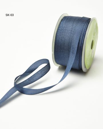 Silk Ribbon 7mm Dk Blue