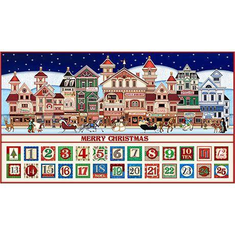 Christmas Town Advent Panel