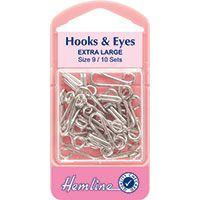 Hook & Eye Nickel size 9