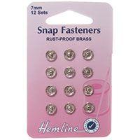 Snap Fasteners Nickel 7mm