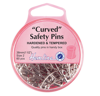 Safety Pins Curved