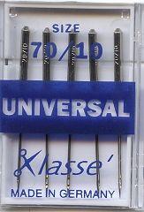 Klasse Sewing Machine Needles Universal 70/10