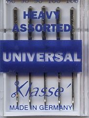 Klasse Sewing Machine Needles Universal: Heavy: Assorted