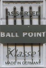Klasse Sewing Machine Needles Ball Point Assorted