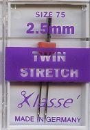 Klasse Sewing Machine Needles Twin Stretch75/2.5mm