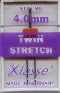 Klasse Sewing Machine Needles Twin Stretch 90/4mm