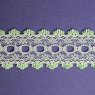 Knit-in Eyelet Lace Mint Green 30mm