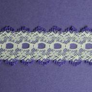 Knit-In Eyelet Lace Purple
