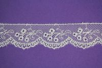 Embroidered Scalloped Tulle White