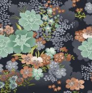 Asami Large Flower Grey