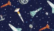 Makower Galaxy Rockets