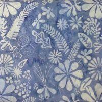 Moda Latitude Batiks Pale Blue Floral