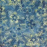 Java Batiks Blue Green Floral