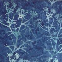Moda Pumpkin Pie Batiks Blue Floral