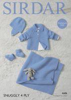Sirdar Leaflet 4686 Baby Boy 4ply