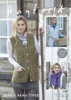 Sirdar Leaflet 7797 Ladies Aran Jacket & Waistcoat