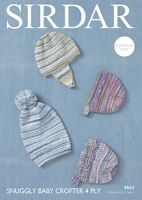 Sirdar Leaflet 4663 Baby 4ply Hats