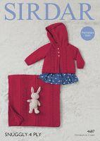 Sirdar Leaflet 4687 Baby Girl's 4ply Set