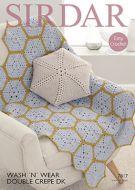 Sirdar Leaflet 7817 Crochet Cushion & Throw