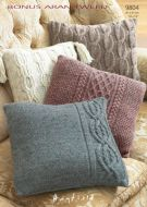 Sirdar Leaflet 9804 Knitted Cushion Covers