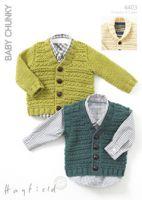 Sirdar Leaflet No 4403 Chunky Baby/ Boy's Cardigans
