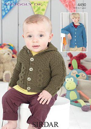 Sirdar Leaflet No 4490 Baby Boy Jacket