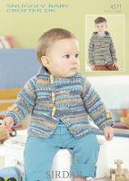 Sirdar Leaflet No 4571 Baby Crofter Boys Jacket