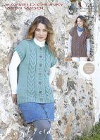 Sirdar Leaflet No 7382 Chunky Ladies Vest