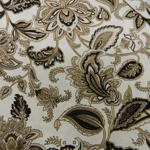 Stratford Park Beige & Black Floral on Cream