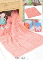 Sirdar leaflet No 4528 Baby Dk Blanket