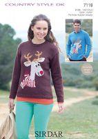 Sirdar Leaflet No 7118 Reindeer Jumper