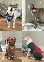 Sirdar Leaflet No 7367 Christmas Dogs