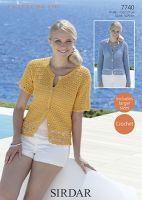 Sirdar Leaflet no 7740 Cotton Crochet  Cardigan