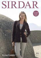 Sirdar Leaflet No 7876 Plush Tweed Jacket