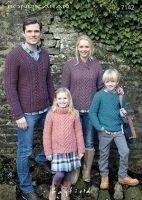Sirdar Leaflet 7142 Family Aran Sweaters