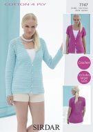 Sirdar Leaflet No 7747 Crochet 4 Ply Top