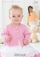 Sirdar Leaflet No 4438 Baby 4ply Cardigan