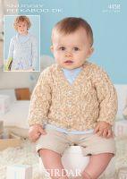 Sirdar Leaflet no 4458 Baby Boy Cardigan