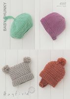 Sirdar Leaflet No 4597 Baby Chunky Hats